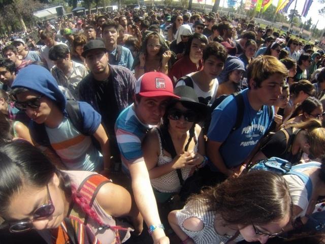 Recién llegados a Chile fuimos al Lollapalooza
